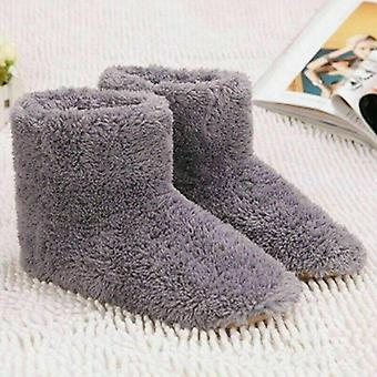 Winter Usb Warmer Foot Shoe Plush Warm Electric Slipper Feet Heated Washable