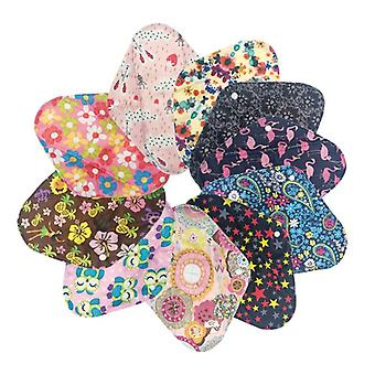 Sanitary Pads, Reusable & Washable Charcoal Cloth, Menstrual Pad With Wet Bag
