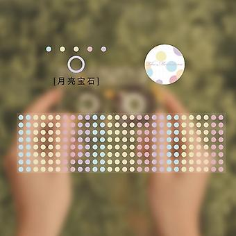Color Dots Pet Wide Decorative Adhesive Masking Tape, Stickers