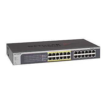 Netgear 24-portar gigabit ethernet smart hanteras plus poe nätverks switch, nav, internet splitter (jgs5