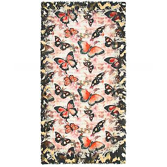 Ahujasons Butterfly Print Wool Scarf