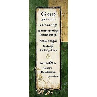 神は私にジェニファー ピューによって平静ポスター印刷を付与します。