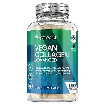 Vegan Collagen Advanced - 500 mg 180 Capsules, Ideal for Bones & Joints and Anti-Ageing Skin With Hyaluronic Acid, Zinc & Vitamin C