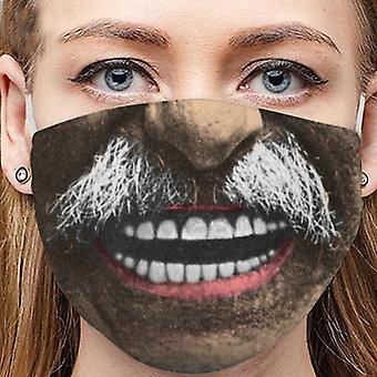 Unisex 3d Creative Printing Cotton Washable Reusable Face Mask