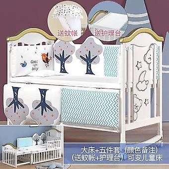 Solid Wood European Multi Functional Baby Bed