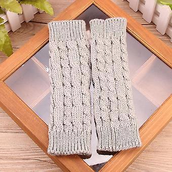 Stylish Hand Warmer Winter Gloves Arm, Crochet Knitting Faux Wool Mitten Warm
