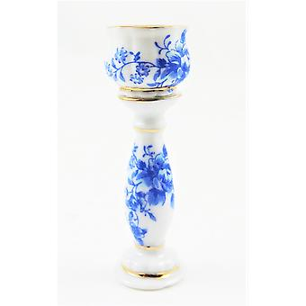 Dolls House Blue & White Jardiniere Plant Stand Miniature Accessory
