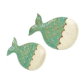 Ceramic Fish Plate Set (Set of 2)
