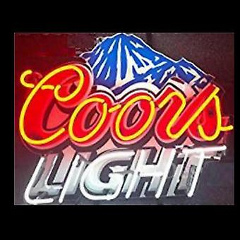 Coors Light Mountain Glass Neon Beer Light Sign