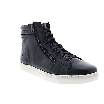 Andrew Marc Remsen  Mens Black Leather Lifestyle Sneakers Shoes