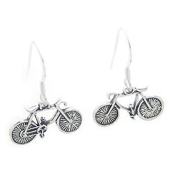 Cykel örhängen Sterling Silver ,925 X 1 Par Cyklar Drops