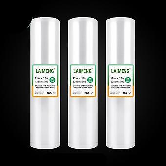 3 Vacuum Packaging Rolls Sealer Bags Film