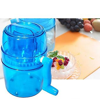 1l Portable Hand Crank Manual Ice Crusher Shaver Cone Maker Machine (blue Other