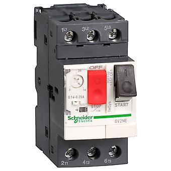 Schneider GV2ME05 3 Pole 1A 690Vac Thermal Magnetic Circuit Breaker
