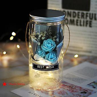 Led Luchanted Galaxy Rose ikuinen folio kukka keiju string valot