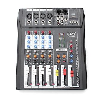 CT-40S 4 Channel Professional Live Studio Audio Mixer with 48V Phantom Mixing
