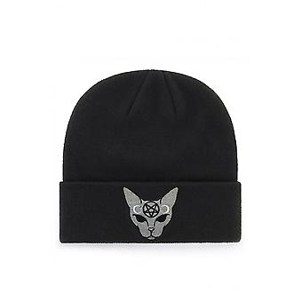 Extreme Largeness Gothic Cat Patch Beanie