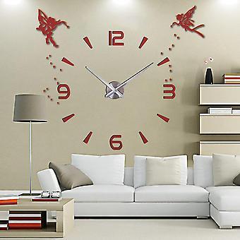 3d Diy Large Wall Clock Modern Design Silent Wall Sticker Clock For Home Decor