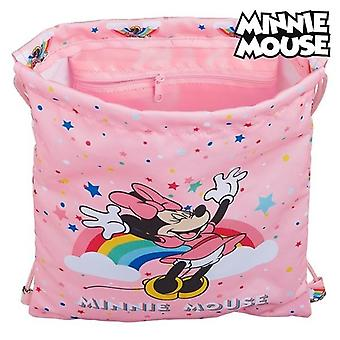 Backpack with strings minnie mouse rainbow pink