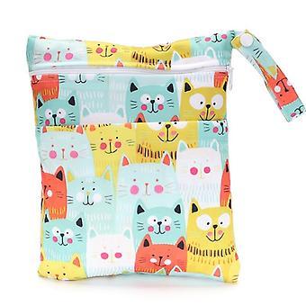 Doppeltaschen Mini Nasstasche, wiederverwendbar, wasserdicht, Pul Snap Griff, für Baby