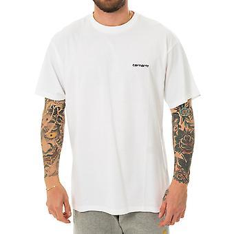 Herren T-shirt Carhartt wischen s/s Skript Stickerei T-shirt i025778.02