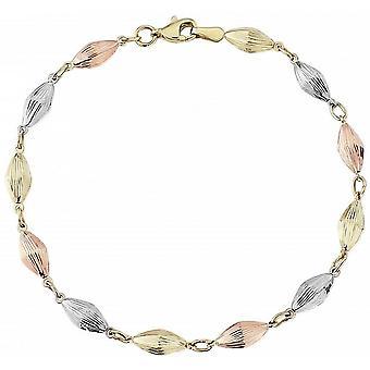Mark Milton Tre Färg Pärla Armband - Guld/Vitt Guld/RoséGuld