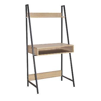 Lust Ladder Bookcase Desk Oak Effect Grey Metal Frames