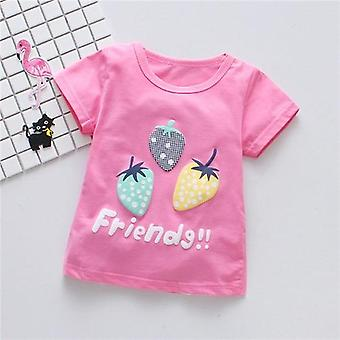 Vauvan T-paidat, Mansikka Kuvio T-paita