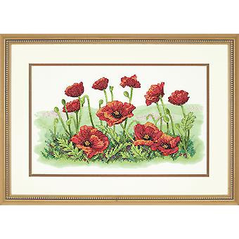 Dimensions Stamped Cross Stitch: Field of Poppies