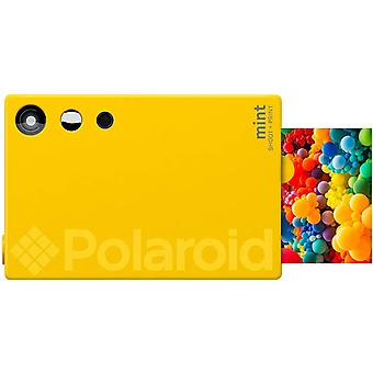 Polaroid Mint Sofortdruck-Digitalkamera (Gelb), Druck auf Zink 2x3 Fotopapier mit festhaftender