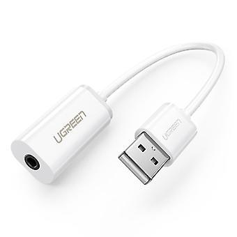 Adaptador externo da placa de som USB para interface de áudio do alto-falante de fone de ouvido