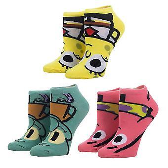 Spongebob Squarepants Charater Ankle Sock Pack