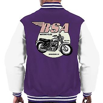 BSA Motorräder Est 1919 Golden Flash Herren Varsity Jacke