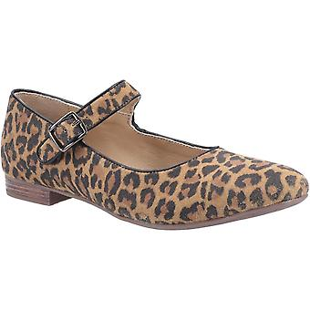 Hush Puppies Dames/Dames Melissa Leopard Suede Mary Janes