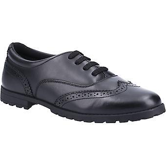 Hush puppies women's eadie senior school brogues shoe black 26397