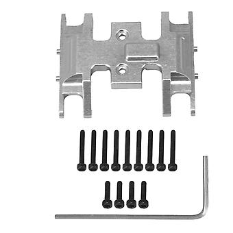 RC1:24 Model Car Gearbox Mount Skid Plate Replacement for AXIAL Silver