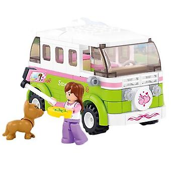 Building Block Girl Series Assembling House Puzzle Toy