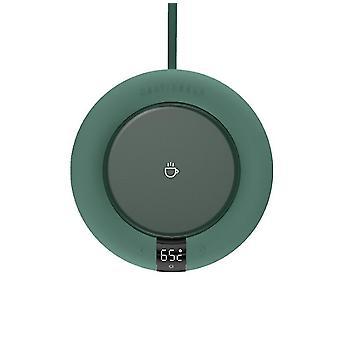 Pyöreä muoto vihreä älykäs vakiolämpötila vesi kuppi lämpötyyny, kuppi lämpimämpi lämmitysalusta az927
