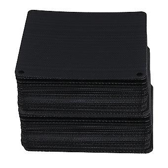 Für 9cm schwarz Computer Kühler Lüfter Staubdicht Mesh Fall Abdeckung Staub Filter Set von 100 WS3664