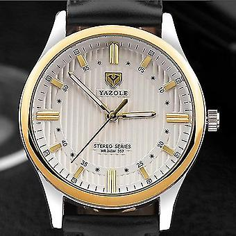 Casual YAZOLE 357 Fashion Men Quartz Watch Retro Leather Strap Wrist Watch