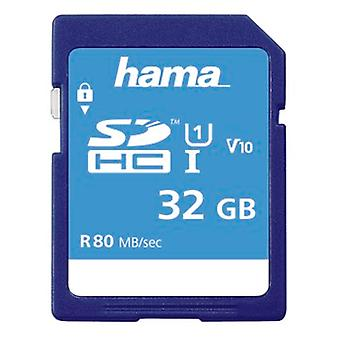 Hama SDHC | 32GB UHS-I Class1 | Super Fast Memory Card | C10 - (533x / 80Mb/s), 00124135