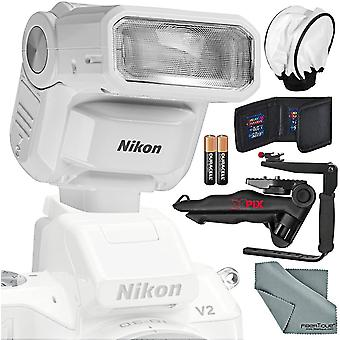 Nikon 1 sb-n7 speedlight  and photographers deluxe bundle w/ xpix pro camera strap, tripod, complete cleaning kit + diffuser + flash ps44083