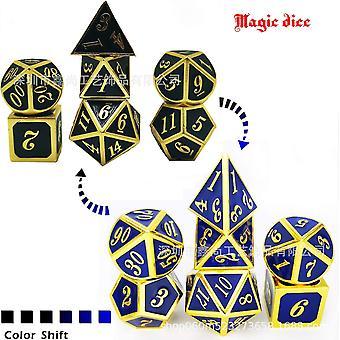 6 Metal dice set role playing dragons magic dice bar party table game 7pcs/set fa1394
