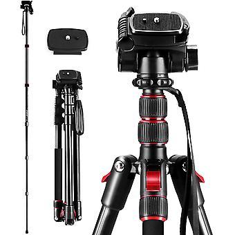"""Wokex Stativ für Kamera, 2m / 78.74 """"Professional 2in1 Stabile Triopod Einbeinstativ Ständer mit 360"""