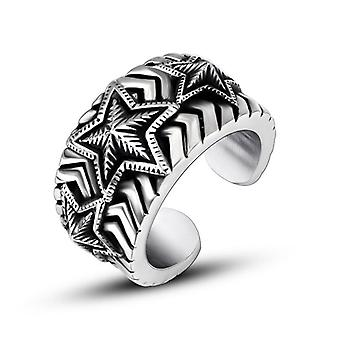 Personalized Creative Titanium Steel Rings Star Style Men's Accessories Ring Sa967