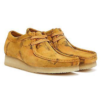 Clarks Wallabee Camo Mens Turmeric Shoes