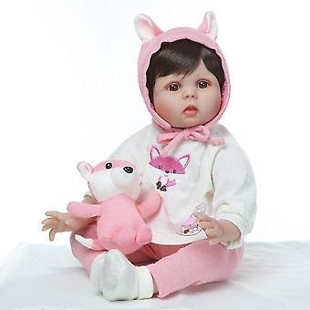 Boneca újjászületett baba baba 55cm puha valódi tapintású vinil szilikon játékok gyerekeknek születésnapi brinquedo menina