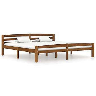 vidaXL sommier bois de pin massif brun 200x200 cm