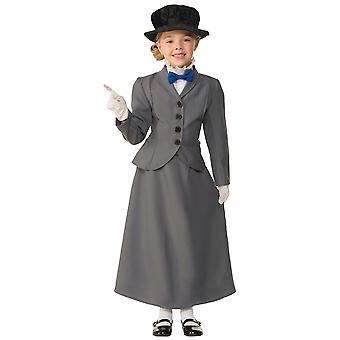 Engelsk Nanny Mary Poppins Magic Viktoriansk Olden Dag Bok Uke Jenter Kostyme