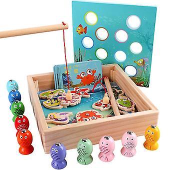 Kinderen houten speelgoed magnetische spelletjes vissen spelletjes kinderen 3d vis baby outdoor vroeg speelgoed